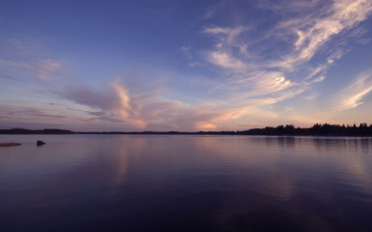 озеро и закат