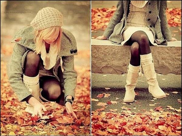 красивые фото осень девушки