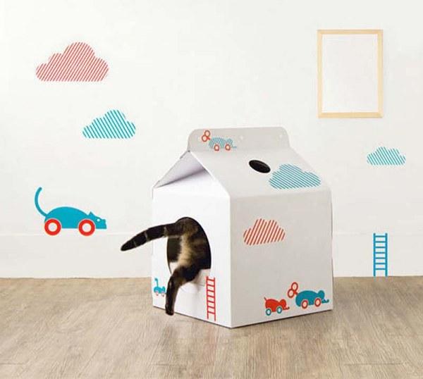 Домик для кота из коробки 2