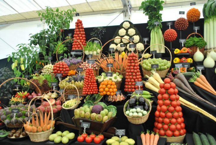 Красочные овощные мозаики на выставках и ярмарках