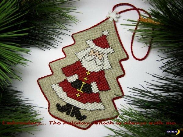 Схема вышивки для подарка на новый год