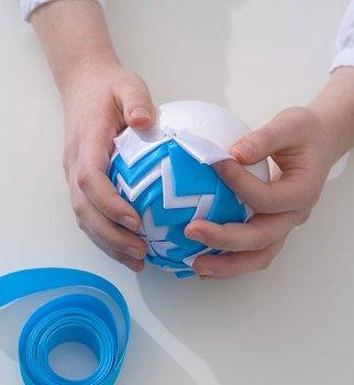 Новогодняя открытка шарик своими руками