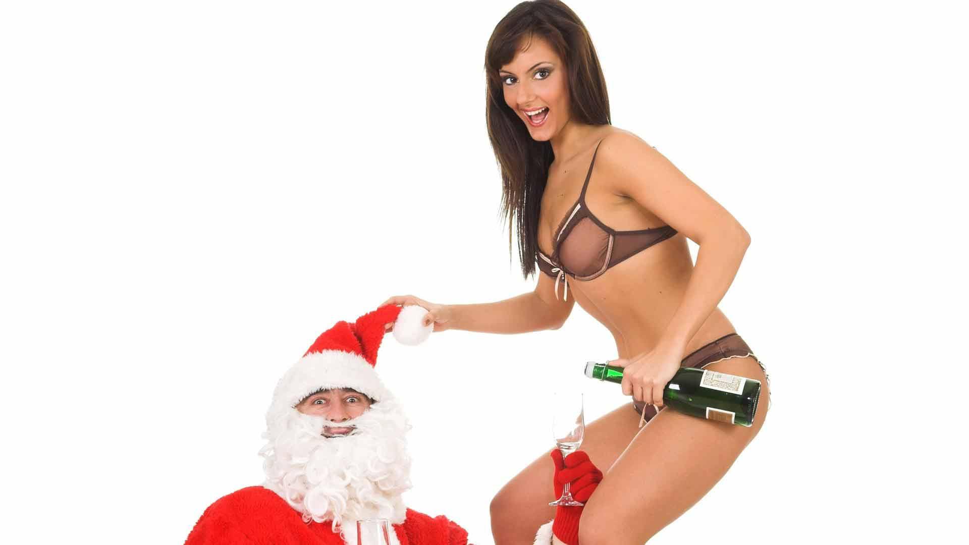 Картинки новогодние секси дед мороз для телефона