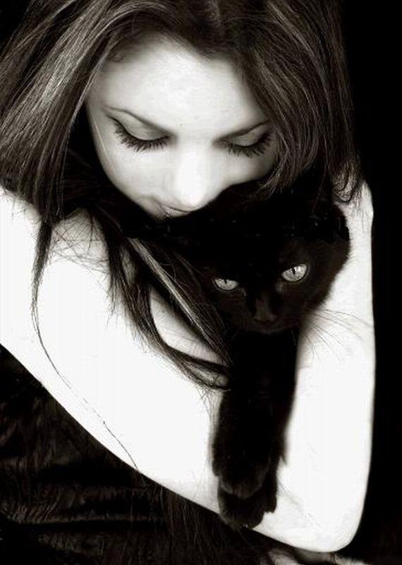 кошки и девушки картинки