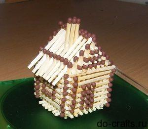 как сделать домик из спичек