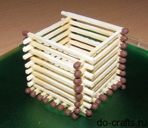 Пошаговое фото домиков из спичек