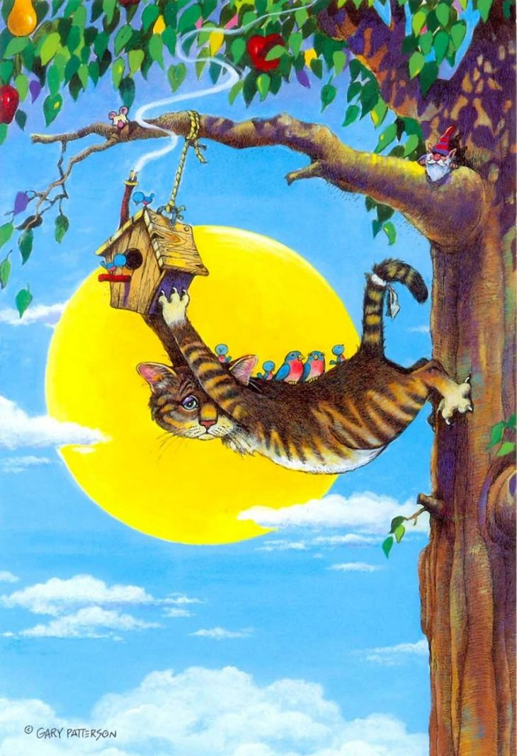 Коты-котики,теплые животики... Художник Гэри Паттерсон (Gary Patterson) (114 картинок)