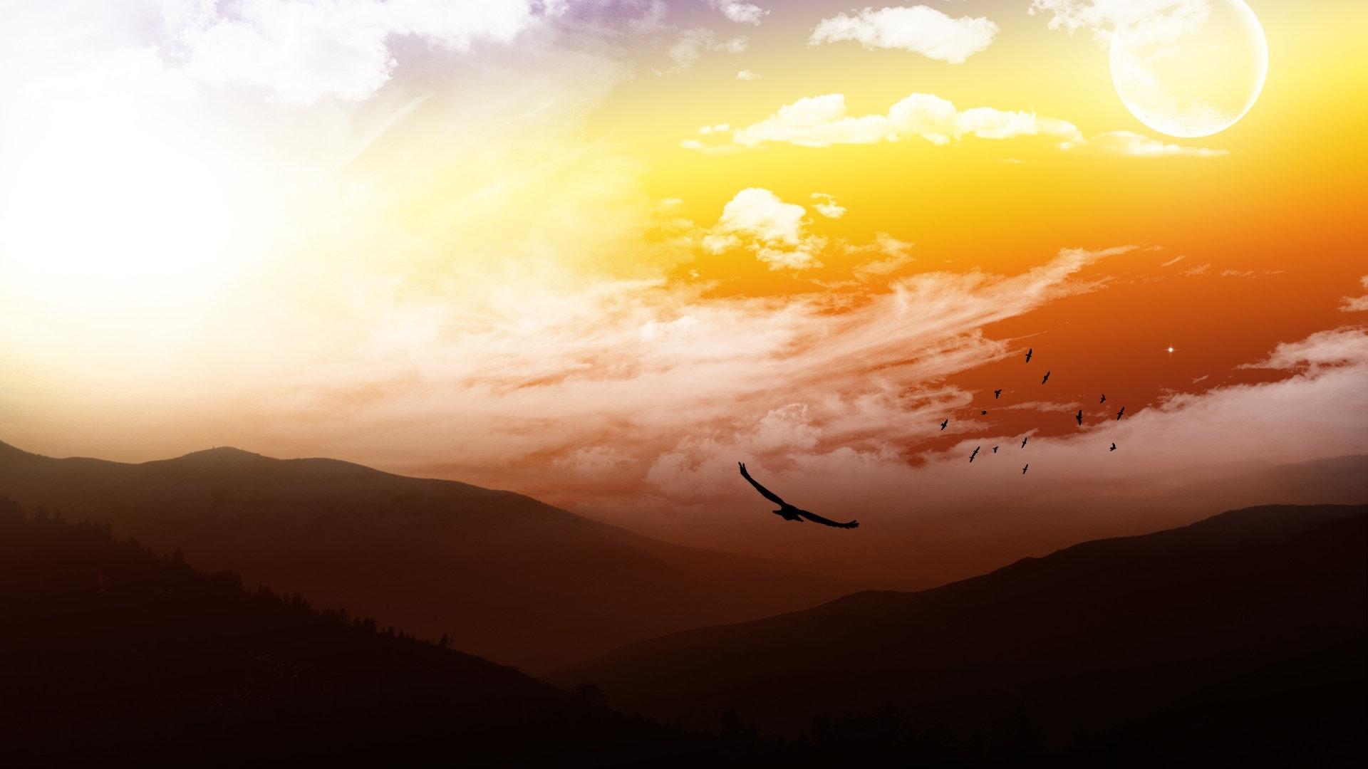 небо и поле обои на рабочий стол