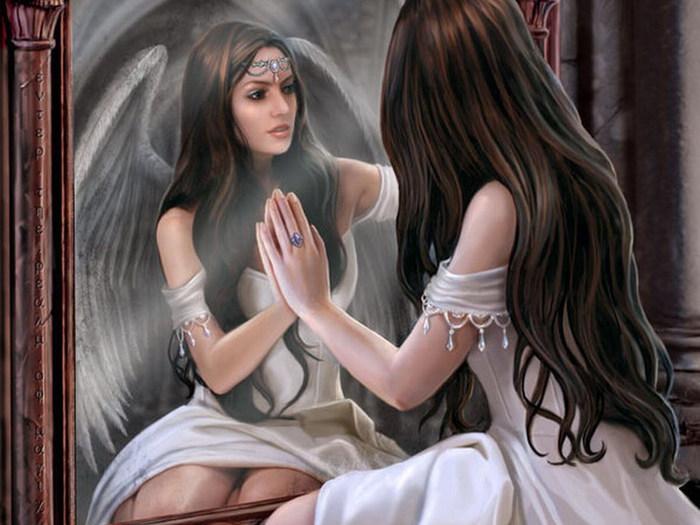 Фото девушек перед зеркалом в купальнике 27 фотография