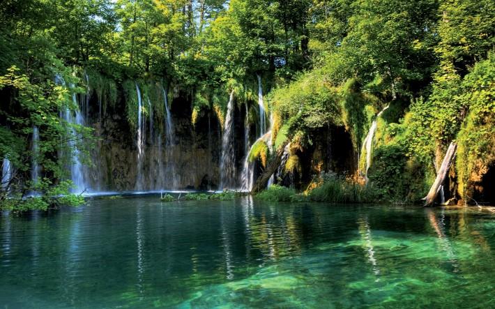 тихий водопад