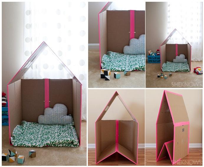 Как сделать домик для ребенка своими руками дома