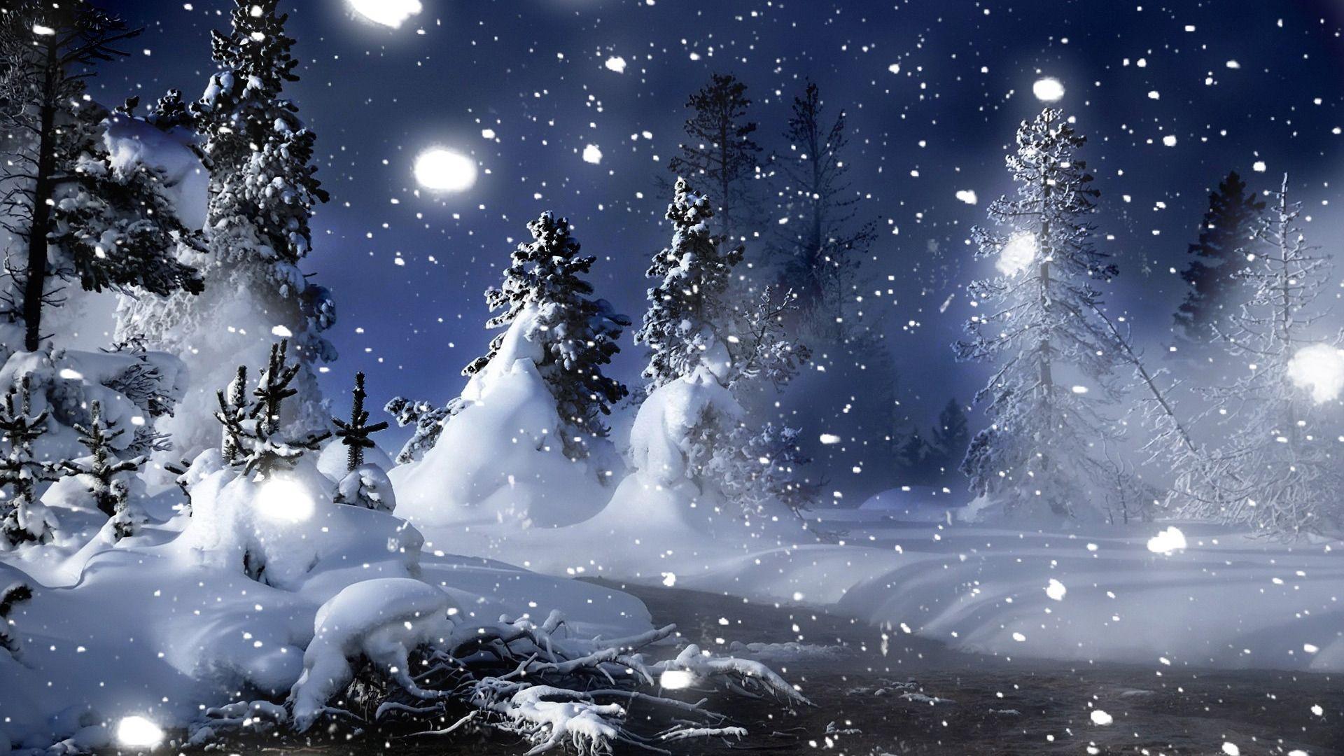 Картинки на рабочий стол красивые 3д зима