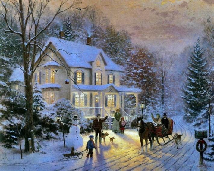 Волшебные зимние пейзажи Томаса Кинкейда (Thomas Kinkade).