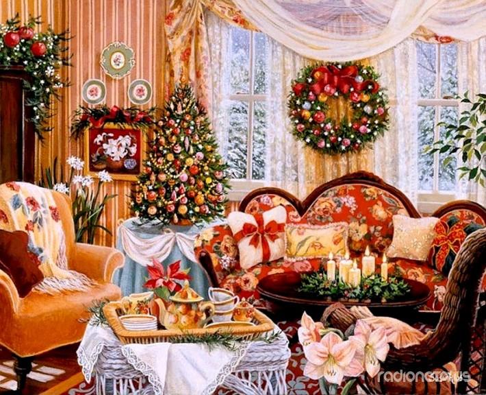 Как украсить квартиру на новый год своими