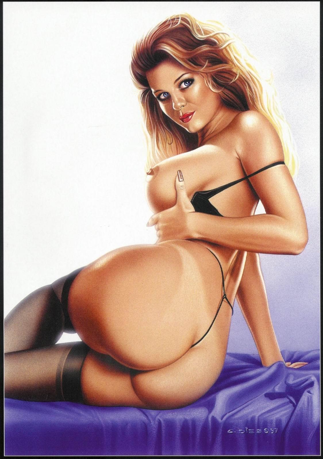Рисунки эротические полных женщин 1 фотография