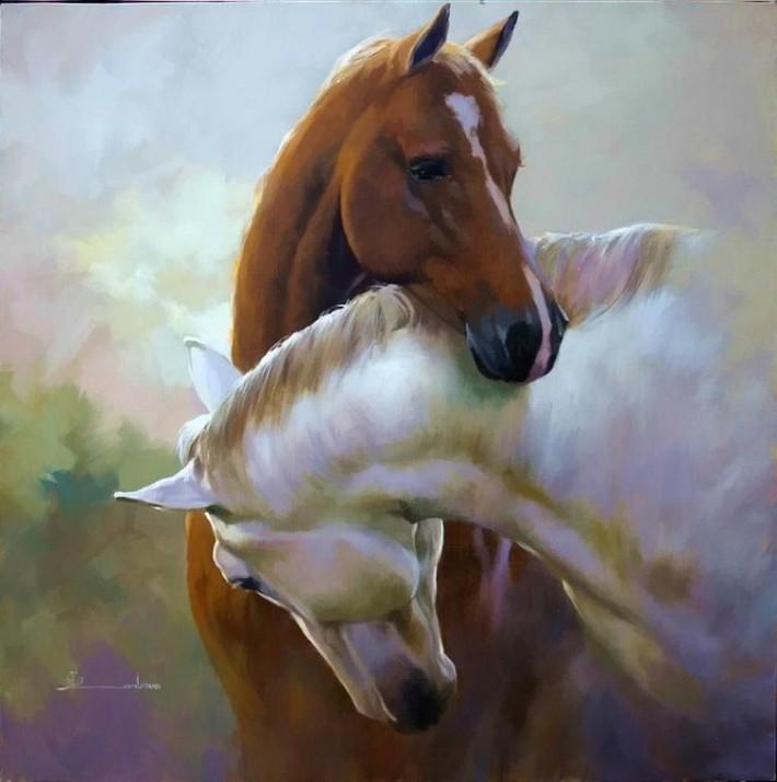 Лошади в картинах Spartaco Lombardo