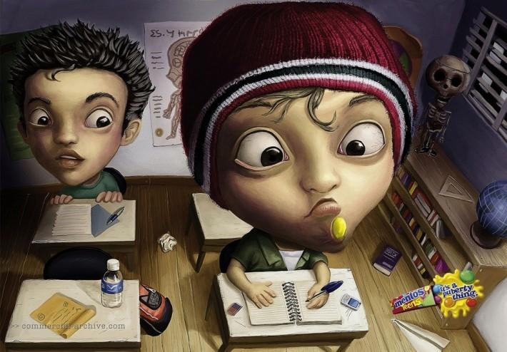 Забавные иллюстрации от Tiago Hoisel