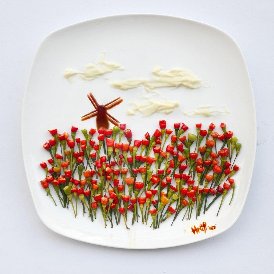 """Публикация: Рисунки на тарелке. :) Сообщество """"Состояние души"""""""