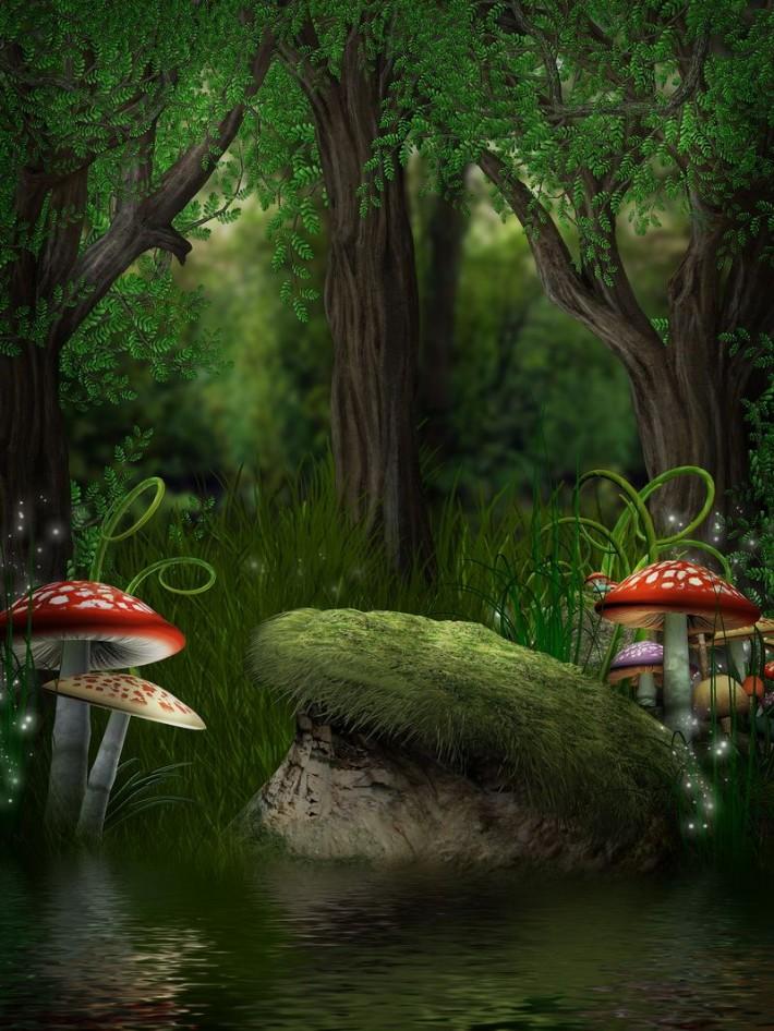 Как сделать сказочный лес в фотошопе