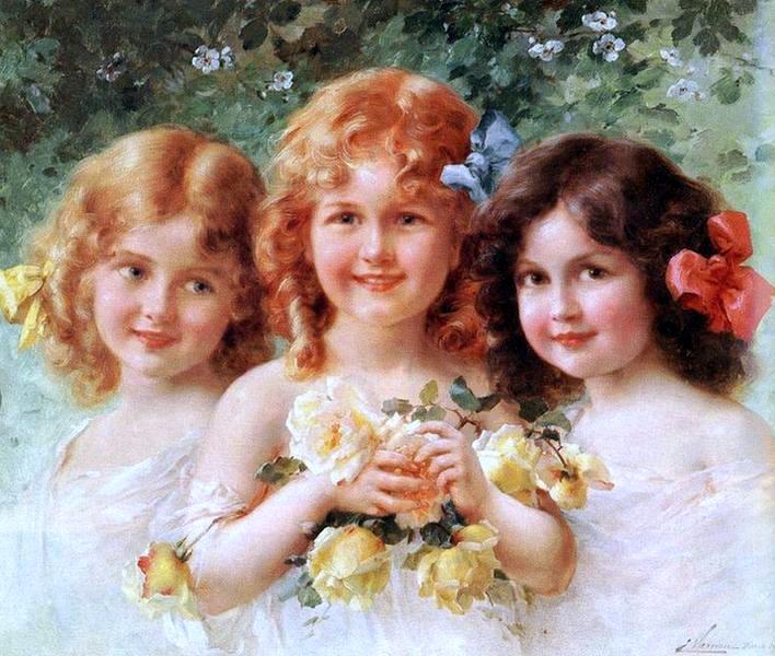 Художник Emile Vernon, Три сестры