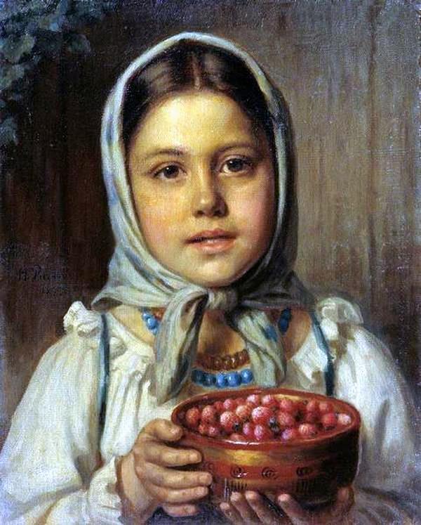 Рачков Николай, Девочка с ягодами