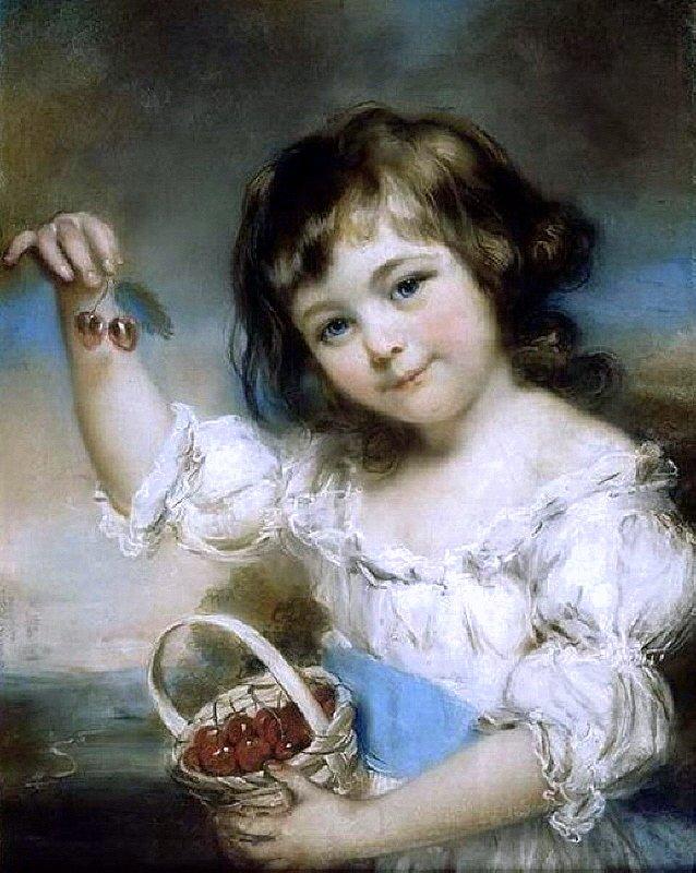 John Russell, Маленькая Девочка с вишнями