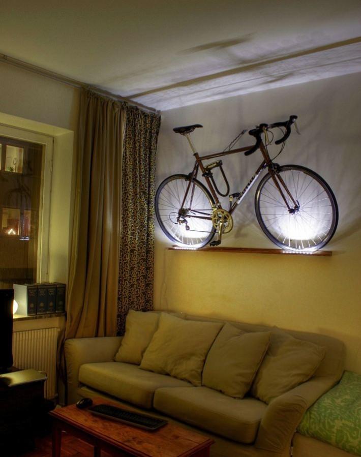 Как хранить велосипед дома.