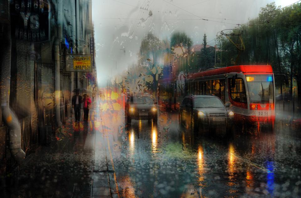 Дождливый Питер в