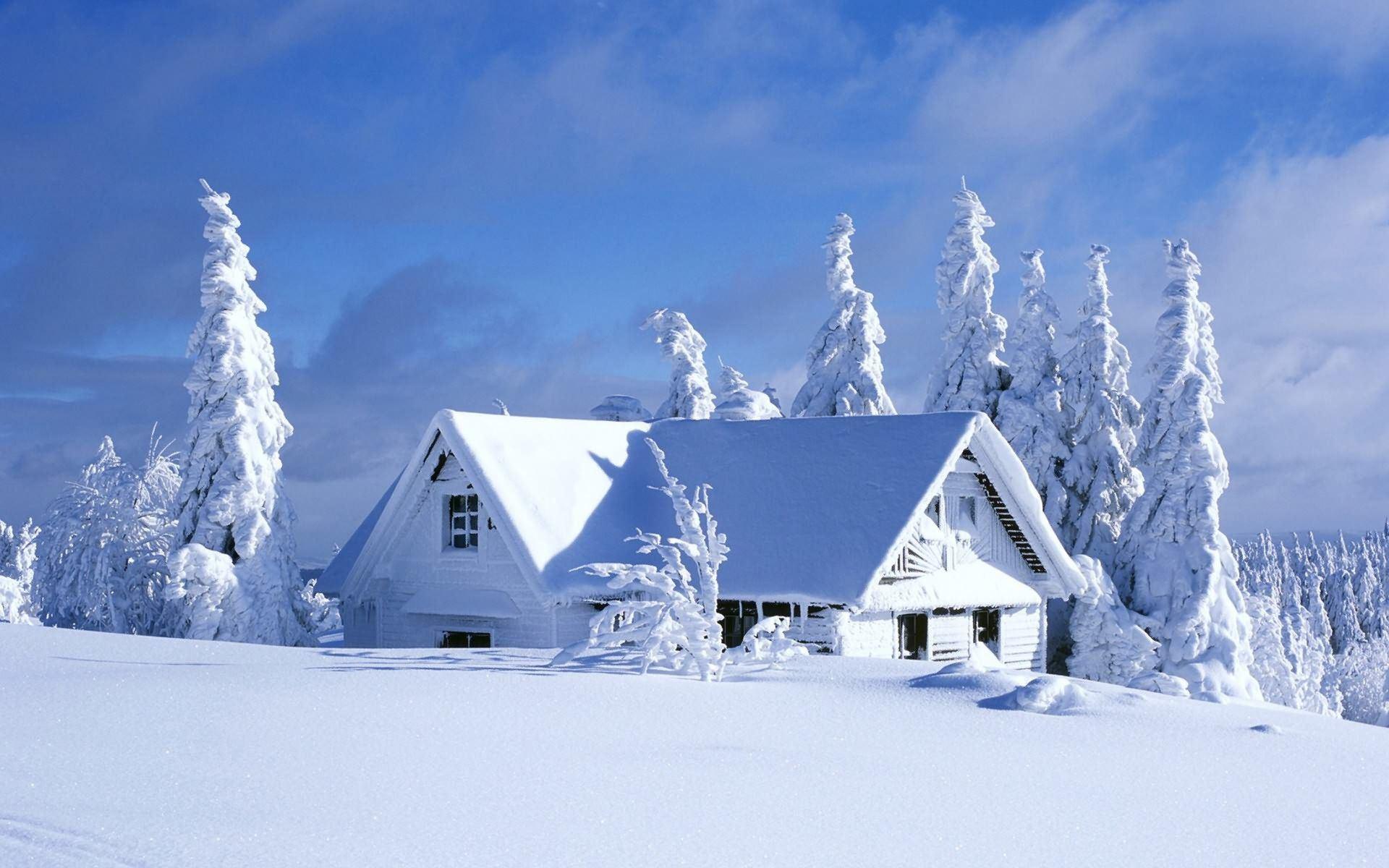 обои зима на рабочий стол пейзаж № 640778 загрузить
