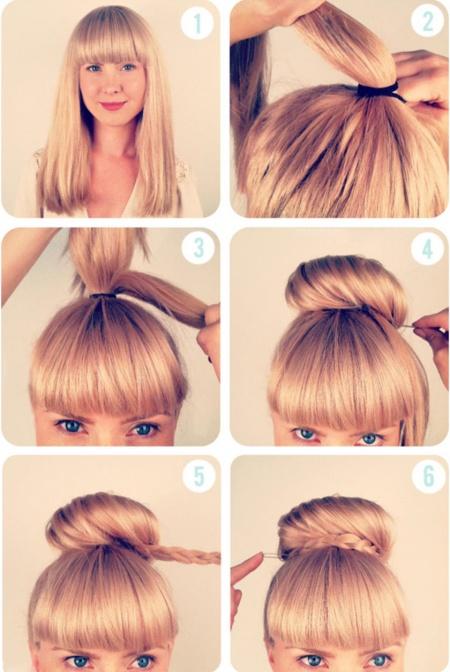 Как сделать красивую прическу из волос в школу