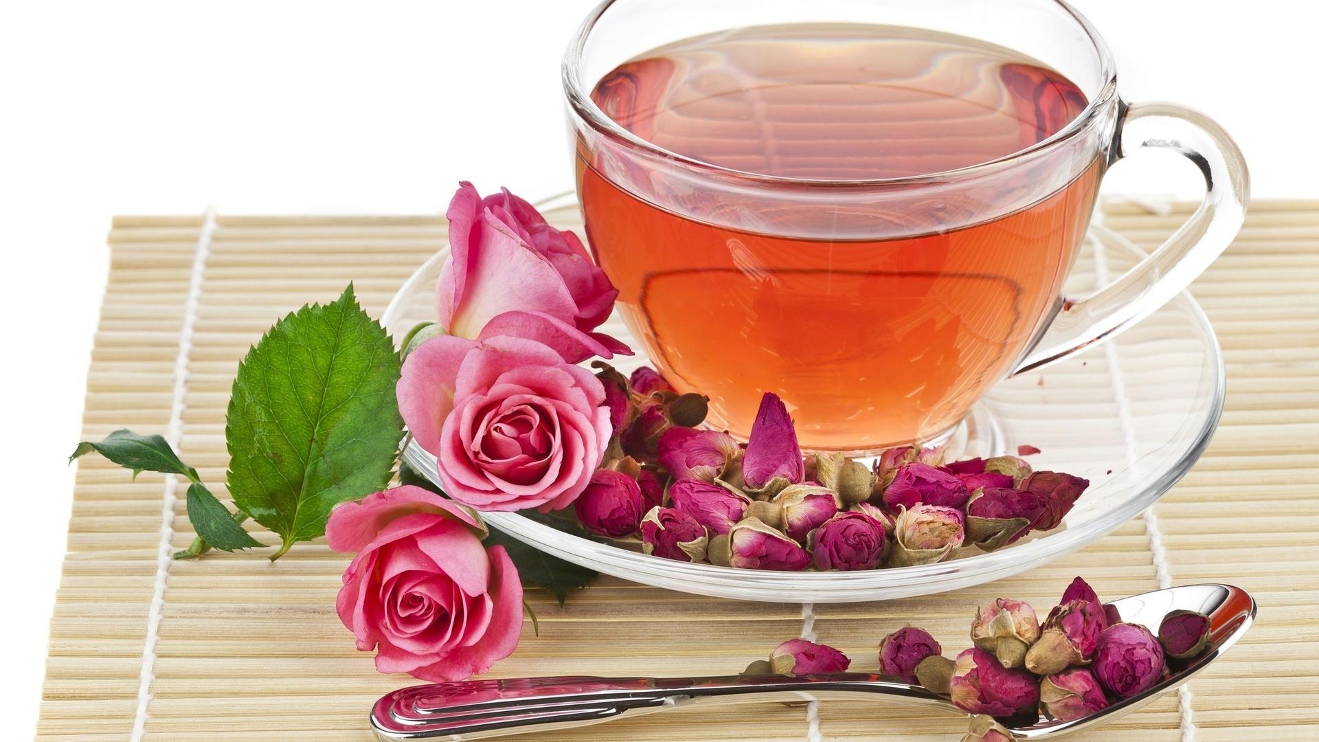 Цветы и чай картинки