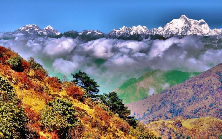 Горы осень