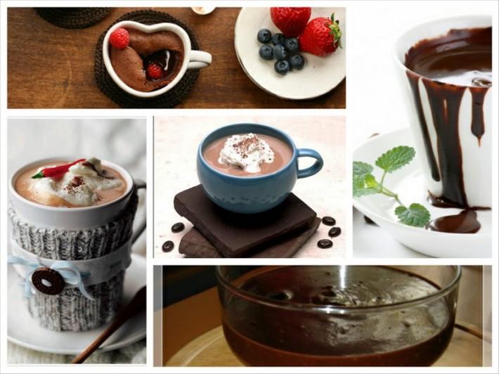 Рецепты горячего шоколада в картинках