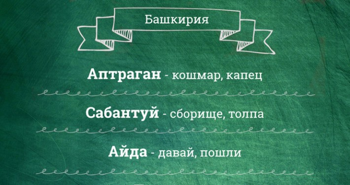 100 региональных слов для перевода «с русского на русский»