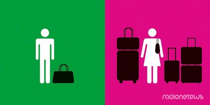 Мужчина и женщина. Отличия. Багаж
