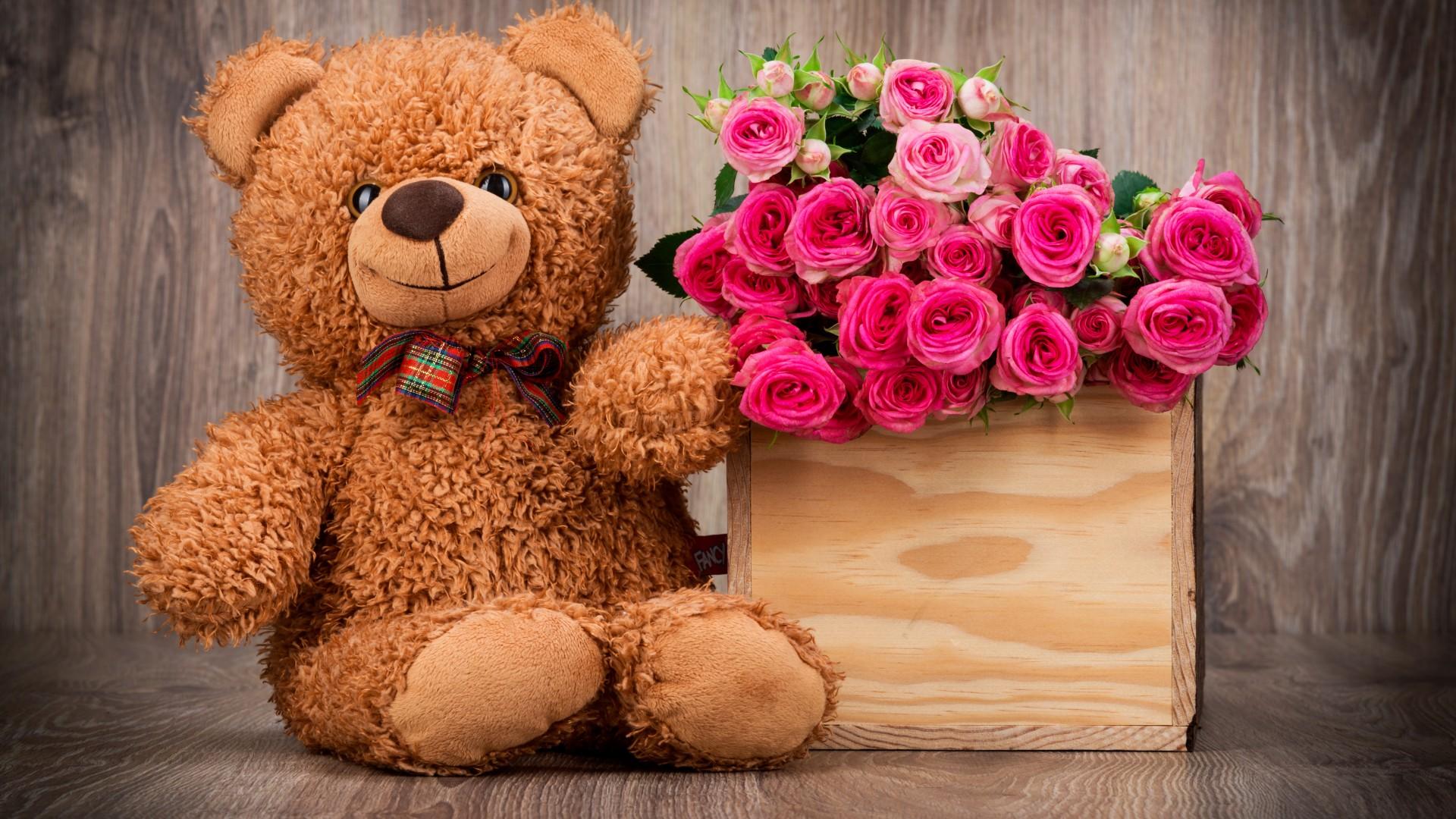 Цветы с игрушками