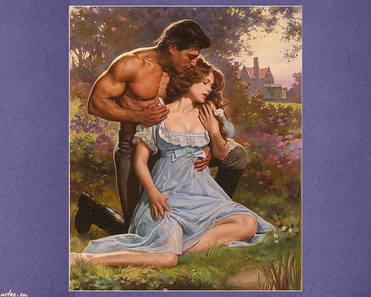 Мужчина и женщина спиной вышивка