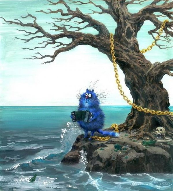 Картинки синие коты - 5e