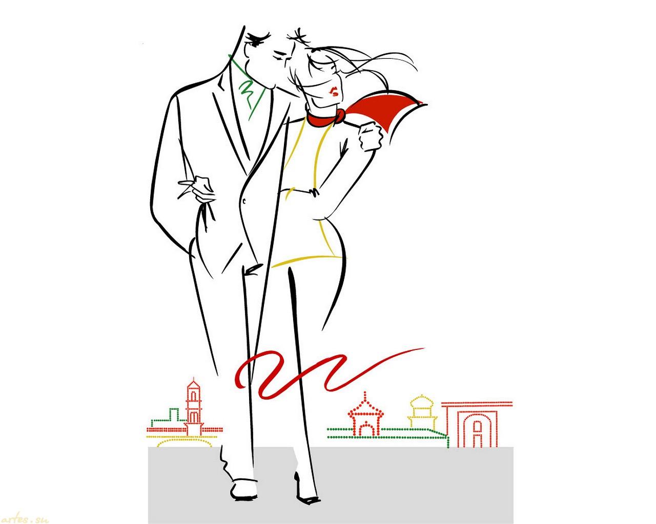 Фото поцелуй романтический