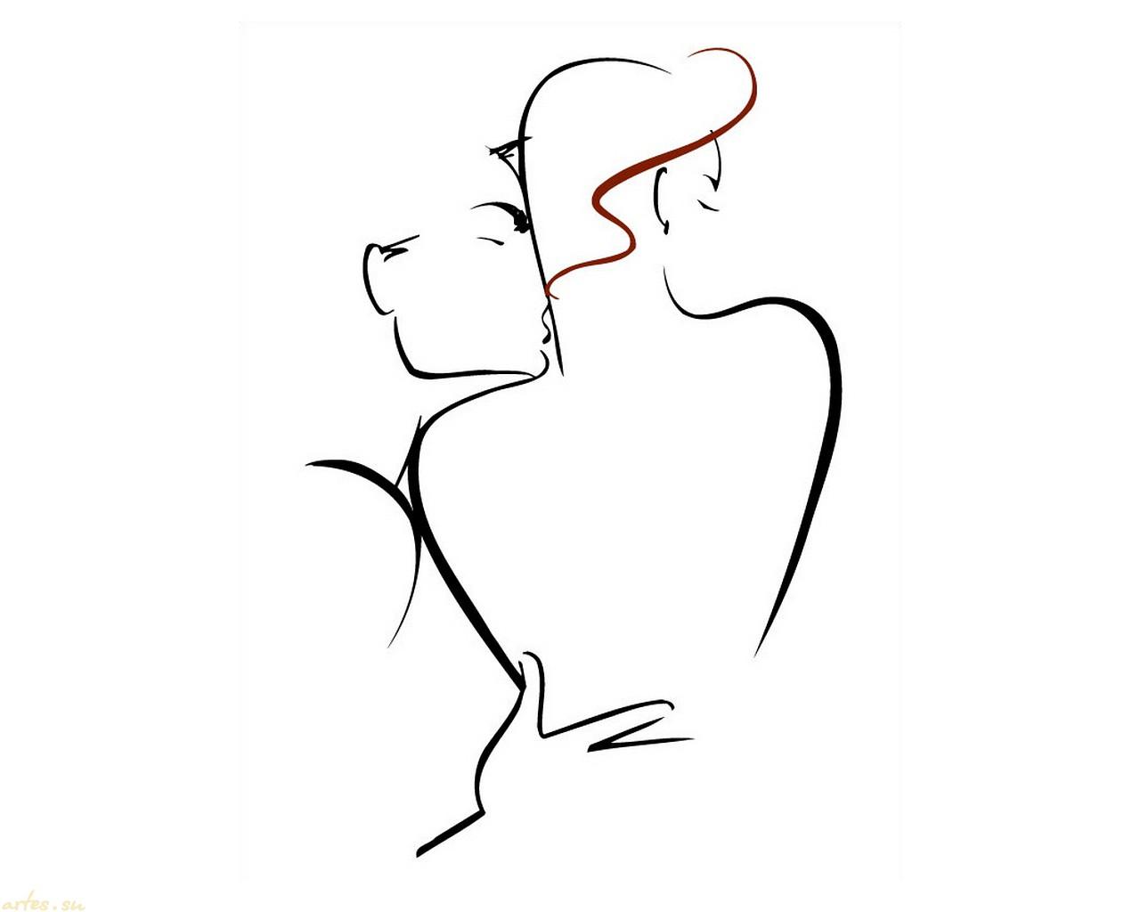 Эротический поцелуй в картинках 24 фотография