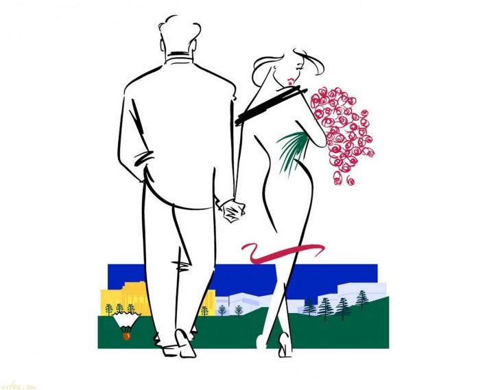 Ty Wilson, романтическая прогулка, влюбленные