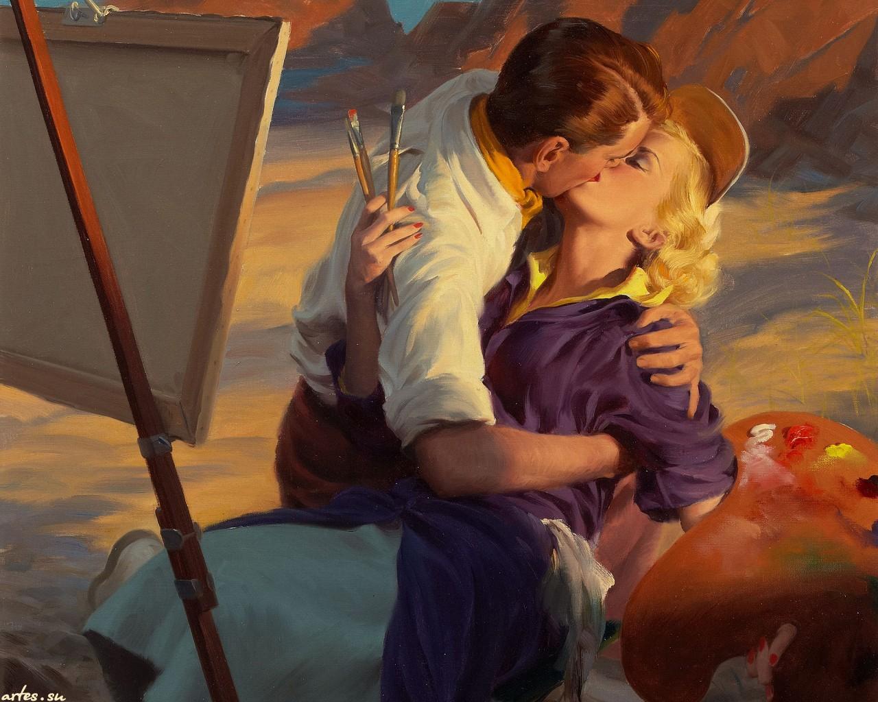 Художник рисующий о любви