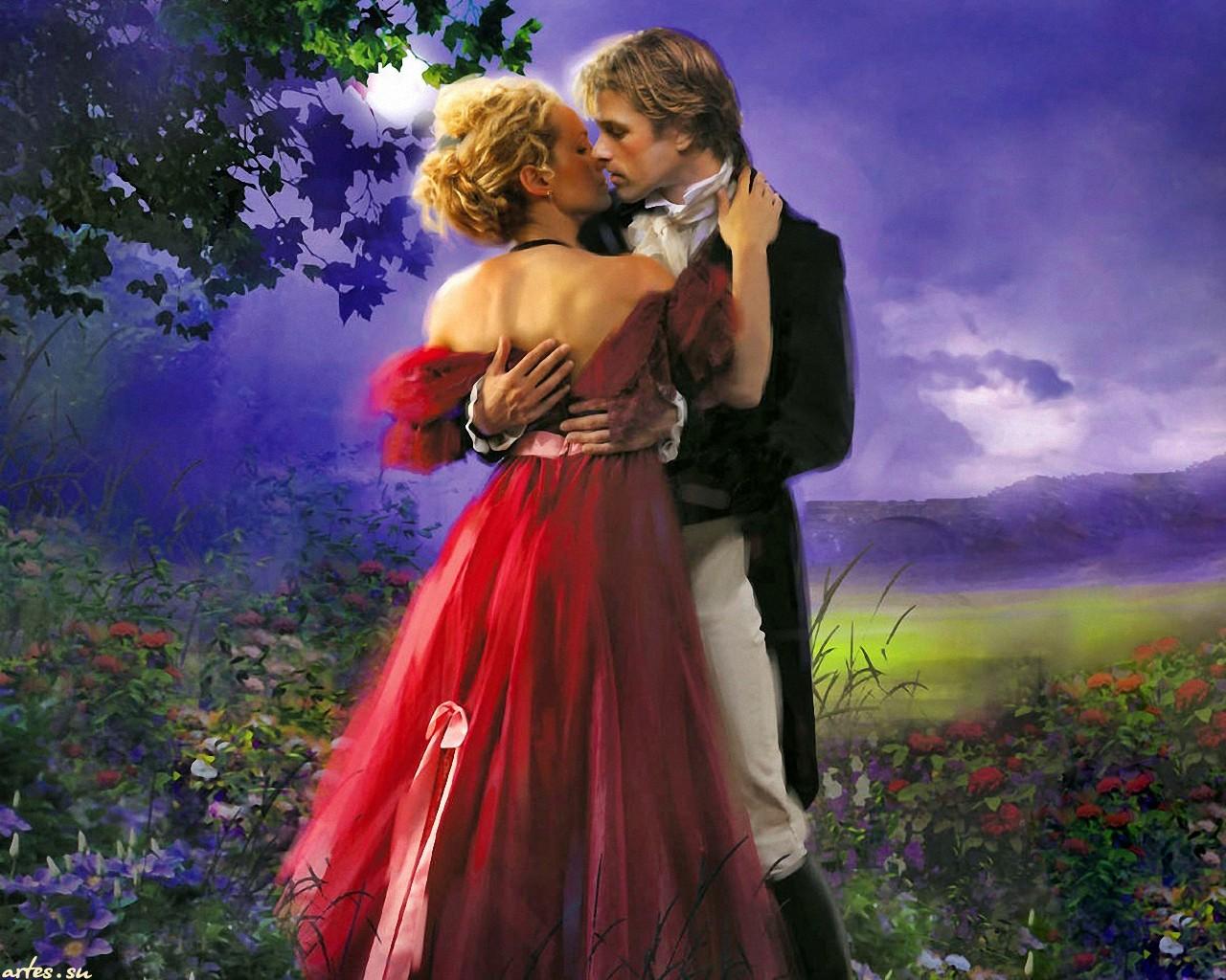 Эротический поцелуй в картинках 12 фотография
