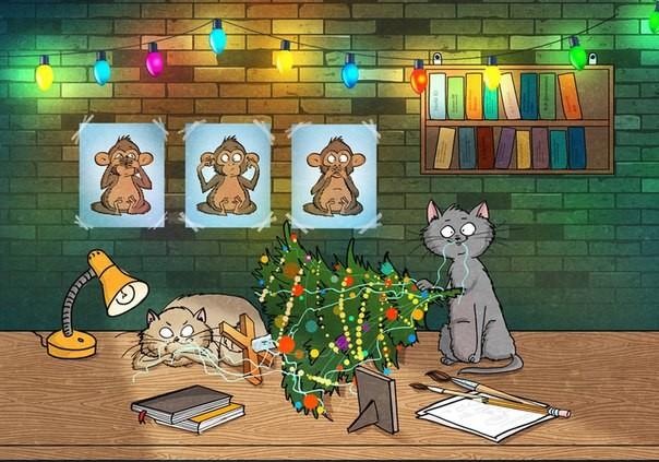 Самое время ощутить приближение Нового года в иллюстрациях Bird Born