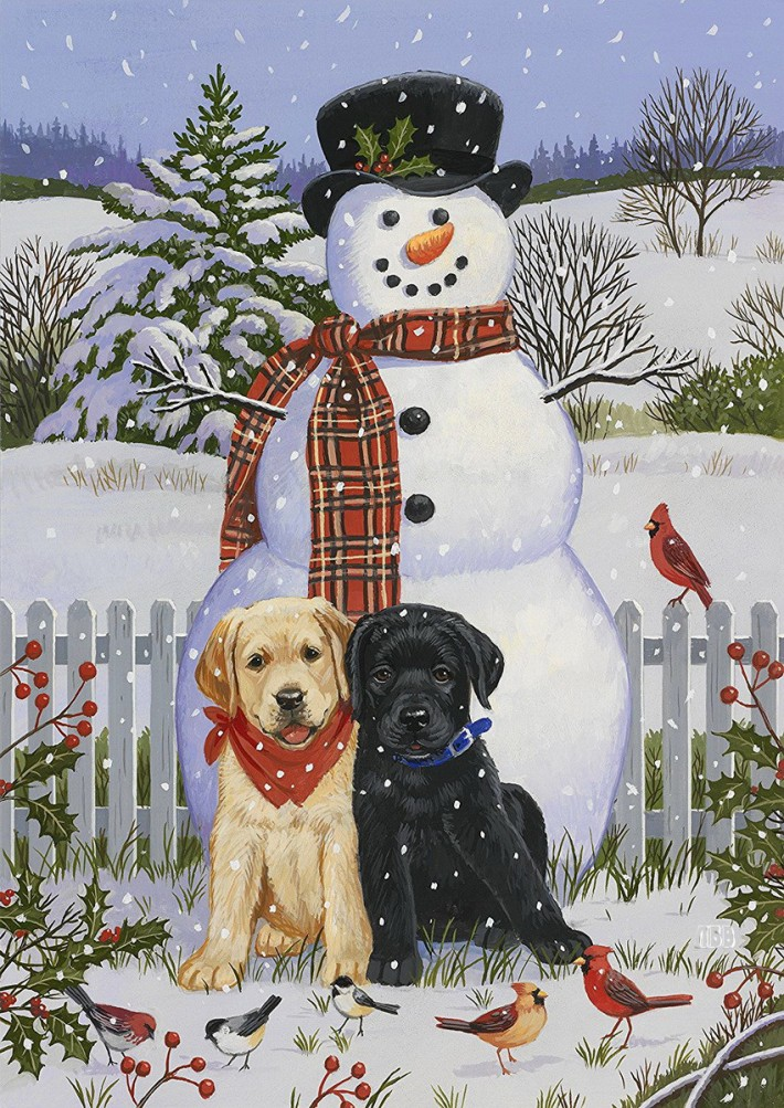 Красивые зимние иллюстрации.  Art William Vanderdasson
